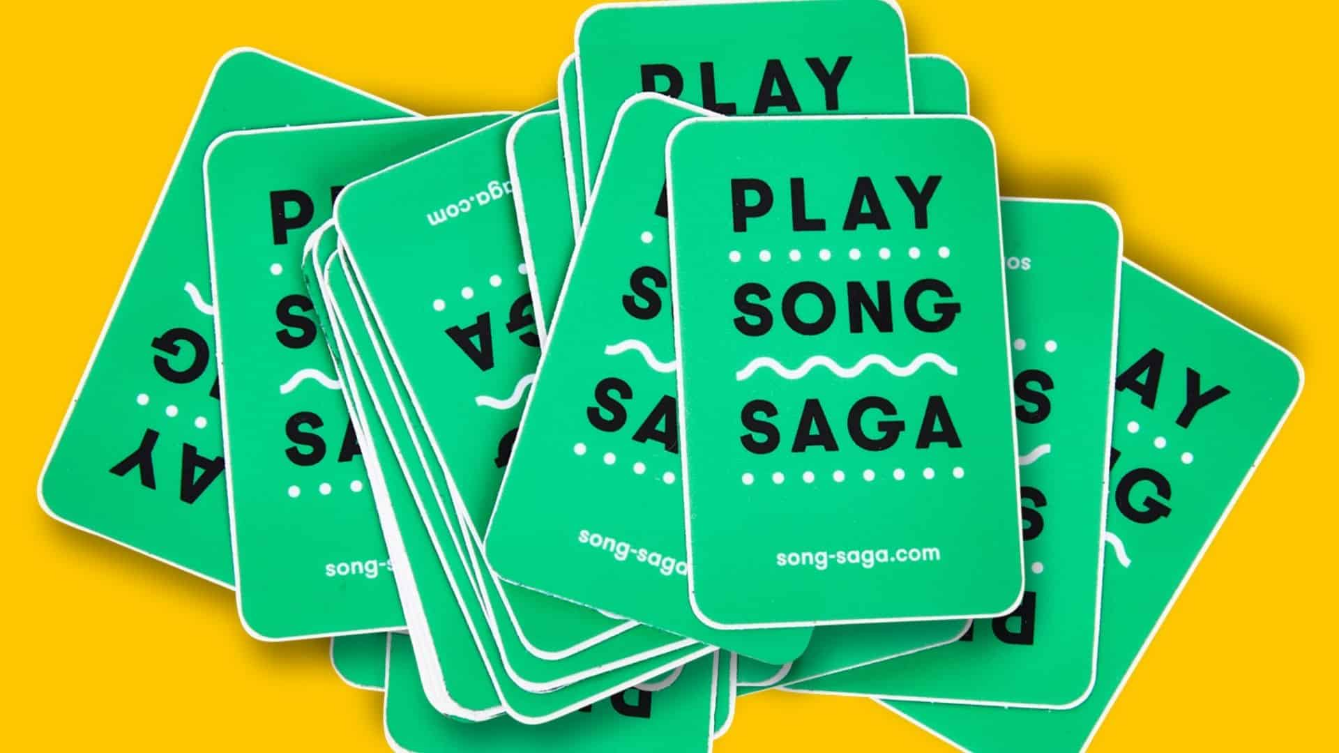 Why you should be playing the #1 hist party game song saga, Best party games, Song Saga Game, Music Game, Story Game, Party Game, Best Party Games, SongSaga, Green Box that Rocks, Card Game, Cards, You Rock Game, Conversation Starters Game, Spotify Game